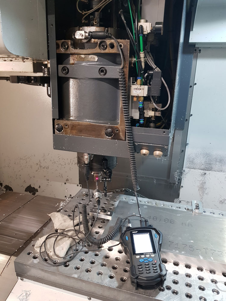 équilibrage broche SKF microlog analyzer
